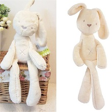 Baby kids lovely White Stuff Plush Toys For Childern Bunny Rabbit Sleeping Comfort Smooth Warm Calm Doll Animals Christmas Gifts