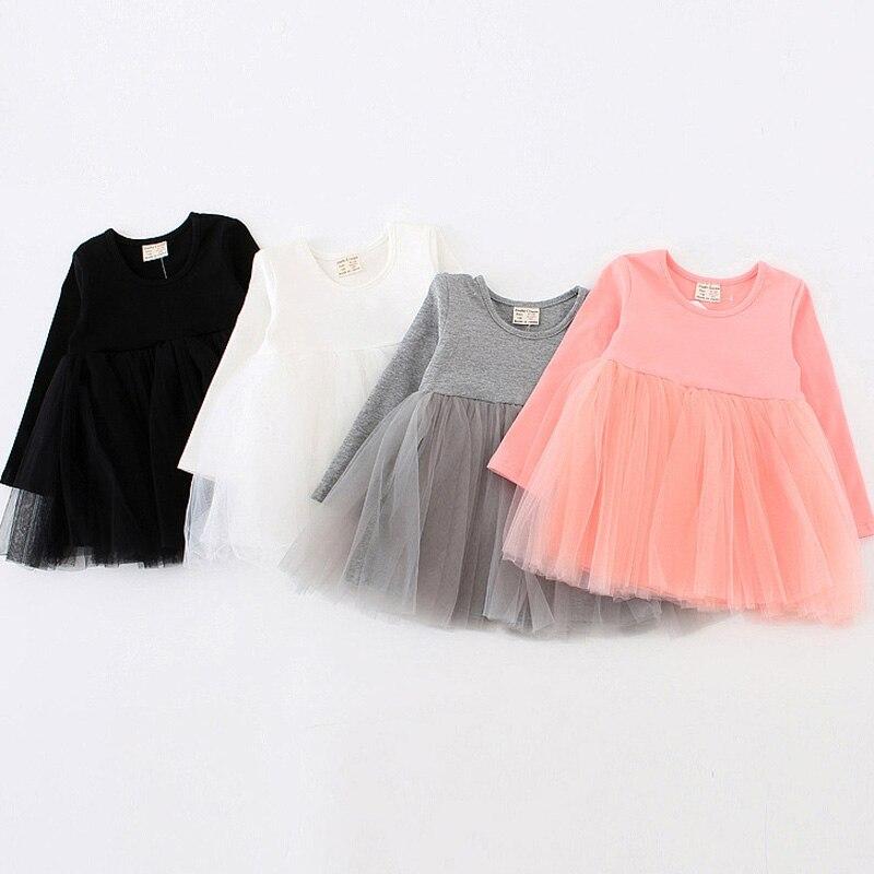 Kids Princess Dress 2017 Fashion Spring Baby Girls Ball Gown Dress Long Sleeve Toddler Girl Clothing Party Dress DQ364 princess girls dress 2017 new fashion spring