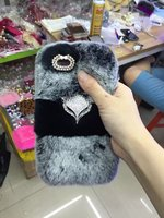 Luxury 3D Rabbit Fur Ball Plush Soft Warm Back Phone Case Cover For Samsung Galaxy S7