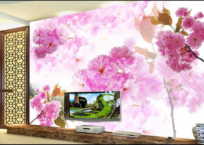 3d papel de parede personalizado foto 3d papel de parede flores de cerejeira pinturas decorativas pintura - Flor Decor