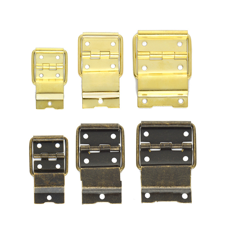 4pcs Antique door butt hinge cabinet hardware Decorative brass hinge for Wooden Case Packaging jewelry boxes DIY Accessories