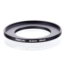 original RISE(UK) 40.5mm 58mm 40.5 58mm 40.5 to 58 Step Up Ring Filter Adapter black