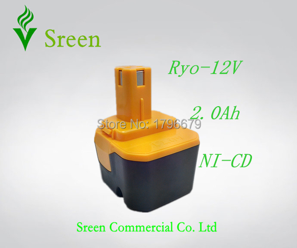 New 2000mAh Rechargeable 12V NI CD Replacement Battery Pack for Ryobi Power Tool Battery RY1204 1400652B