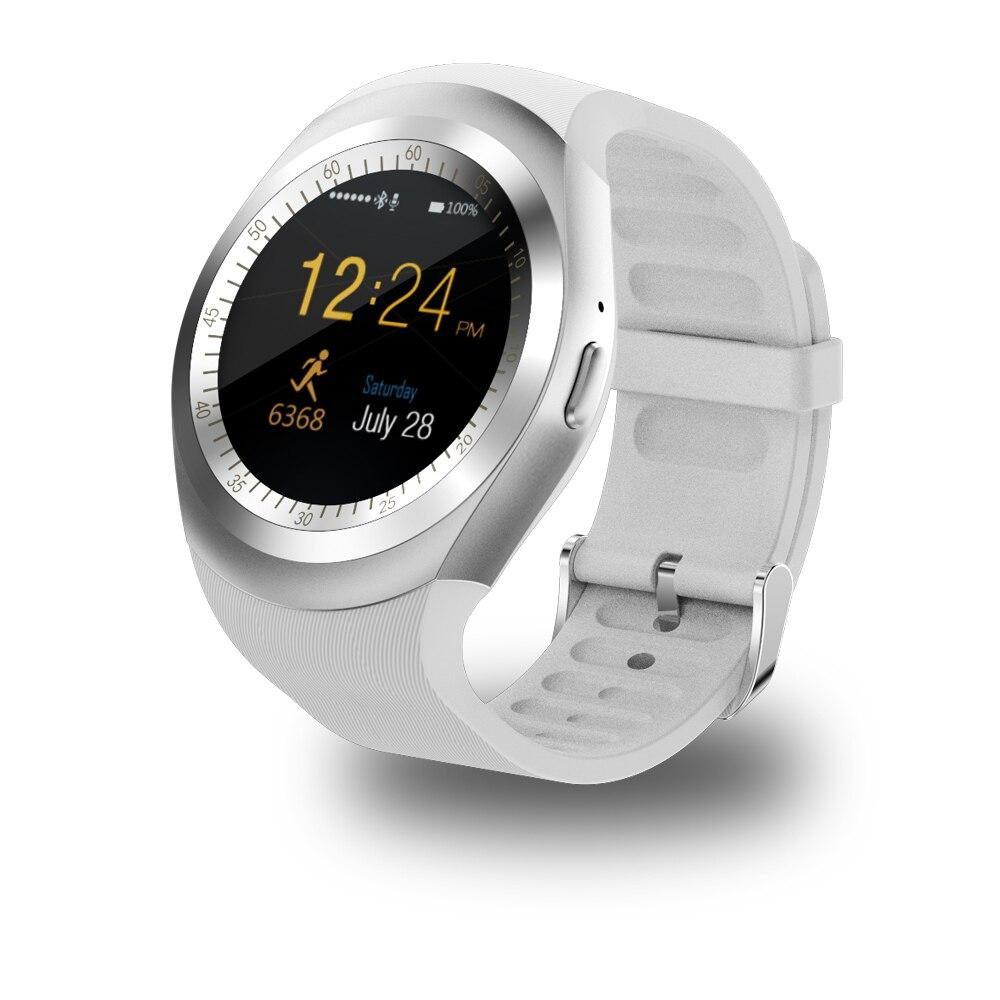Smartwatch Bluetooth Relógio Inteligente Relógio Reloj Relogio Y1 2G SIM GSM App Sync Mp3 para Apple iPhone Telefones Android Xiaomi PK DZ09 KW18
