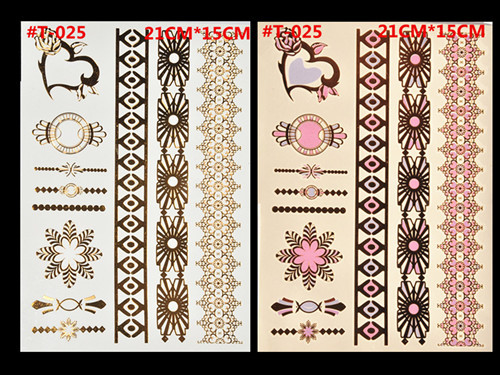 Free Shopping Sex Products Temporary Tattoo For Man And Women Waterproof Stickers makeup make up Flash Gold Tattoo 5