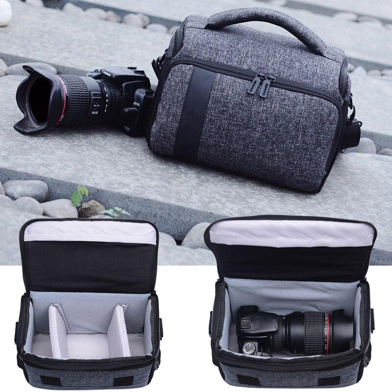Bolsa de la cámara para Nikon D7200 D5600 D5500 D5300 D3400 D3300 D3200 D3100 D5100 D5200 D70 D90 D80 D7000 D7100 + número de seguimiento