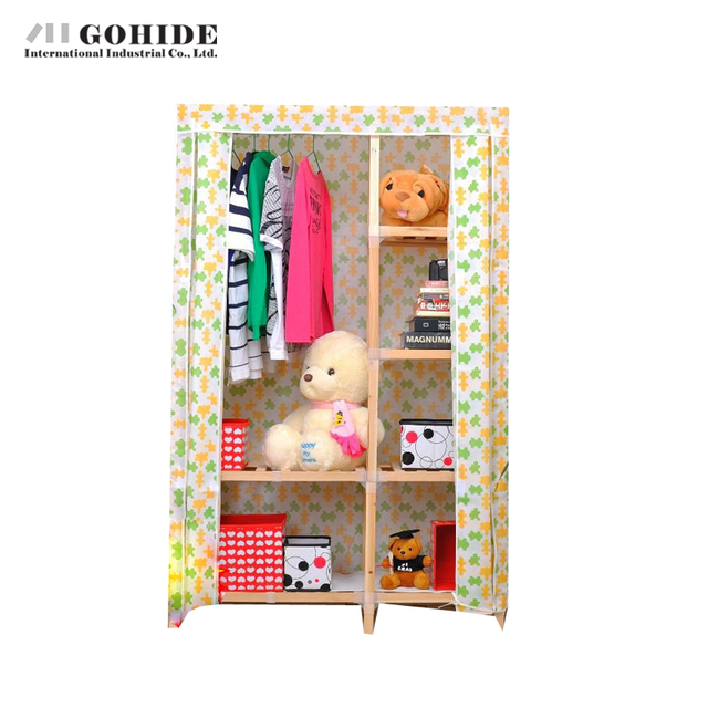 Gohide Cloth Simple Solid Wood Wardrobe Home Furnishing Decoration Home Furnishing Decoration Wardrobes Closet
