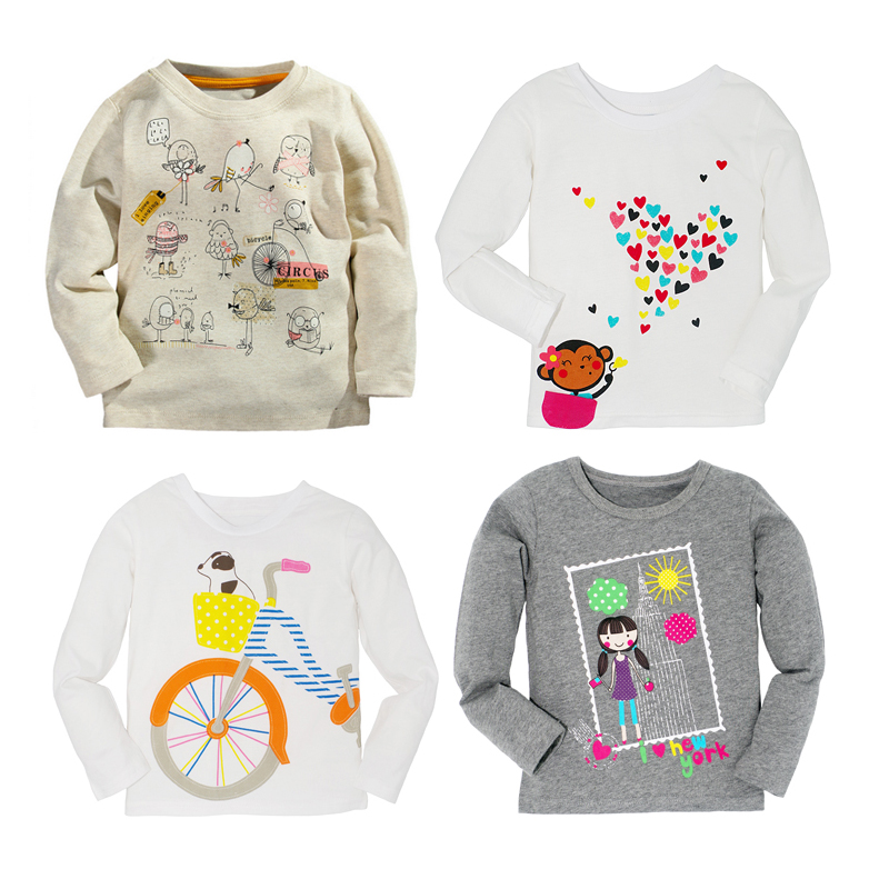 e3552854dae01 Autumn Winter 100% Cotton 5 Style Kids Girls Boys T shirt Children Tees  Baby Girl Boy Long Sleeve Cotton T shirts Infant Tops-in T-Shirts from  Mother   Kids ...