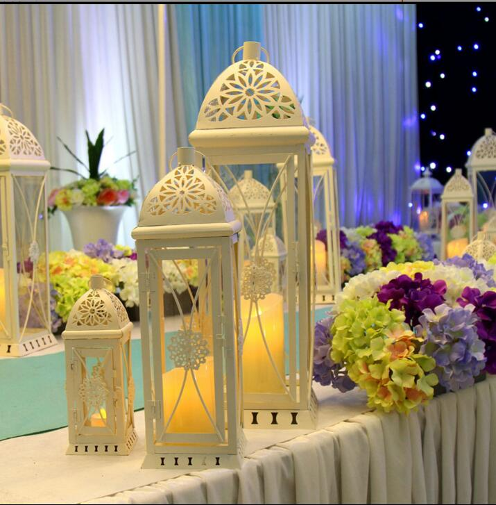 De style européen de fer art lampe, trois ensembles de bienvenue pour la cérémonie de mariage du mariage props dans la Méditerranée dans Partie BRICOLAGE Décorations de Maison & Jardin