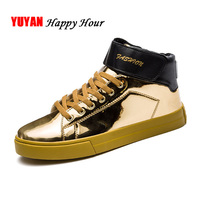 Golden Sneakers Men High top Sneakers Superstar Shoes 2019 Fashion Brand Mens Casual Shoes Sneaker Male Shoes KA625