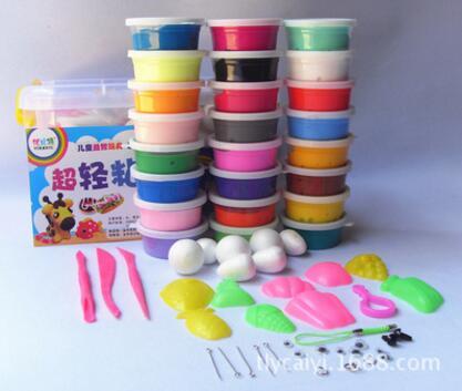 Children's Modeling Clay Playdough Kids Educational Play Toys 24 Colors Handgum Intelligent Plasticine Suit DIY Magic Foam toy