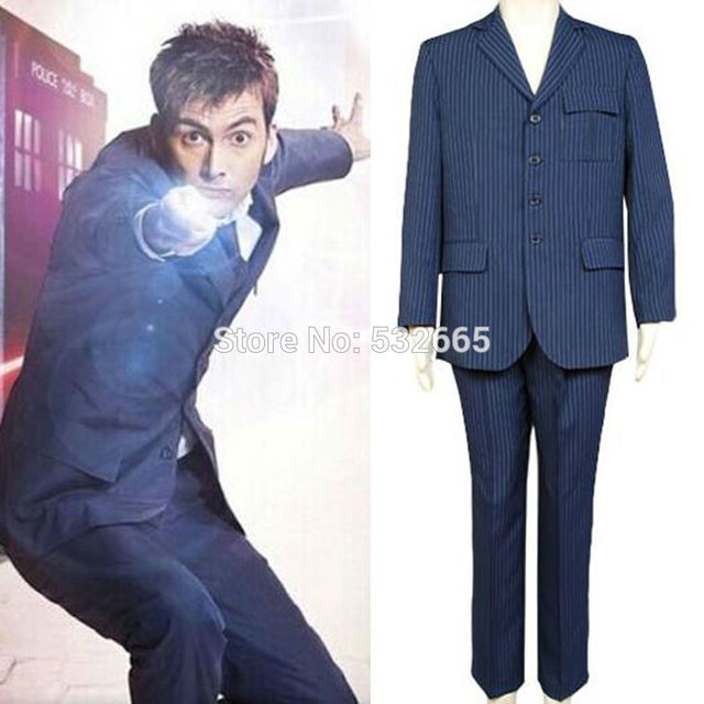 DHL Free Shipping Doctor Who Tenth 10th DR. David Tennant Blue Suit Cosplay Costume Blue  sc 1 st  AliExpress.com & DHL Free Shipping Doctor Who Tenth 10th DR. David Tennant Blue Suit ...
