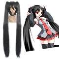 HAIRJOY Высокое Качество Vocaloid Синтетические Волосы 120 см Длинные Плетеные Прямые Черные Косплей Парик