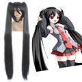 HAIRJOY High Quality Vocaloid  Synthetic  Hair 120cm Long Braided Straight Black Cosplay Wig