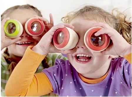 высокая качество детские деревянные игрушки калейдоскоп эффект полигон призма игрушка четыре красивый цвет для мальчик и девочка