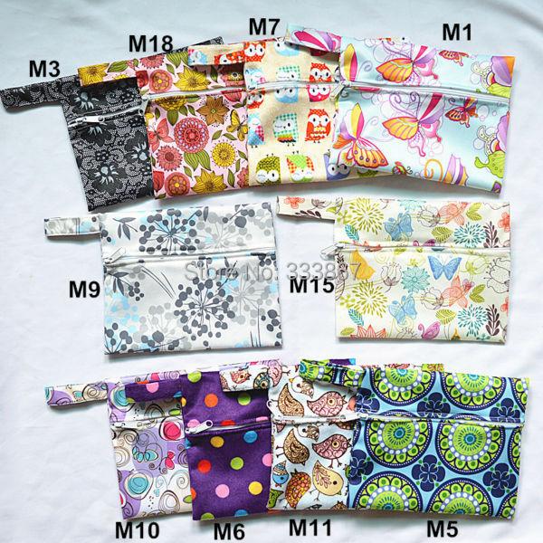 [Sigzagor] 1 Pequeno Mini Wet Saco Reutilizável para Mama Cloth Menstrual Sanitária Maternidade Pad, Tampão, copo Bib, O Comprador ESCOLHER, 35 Projetos