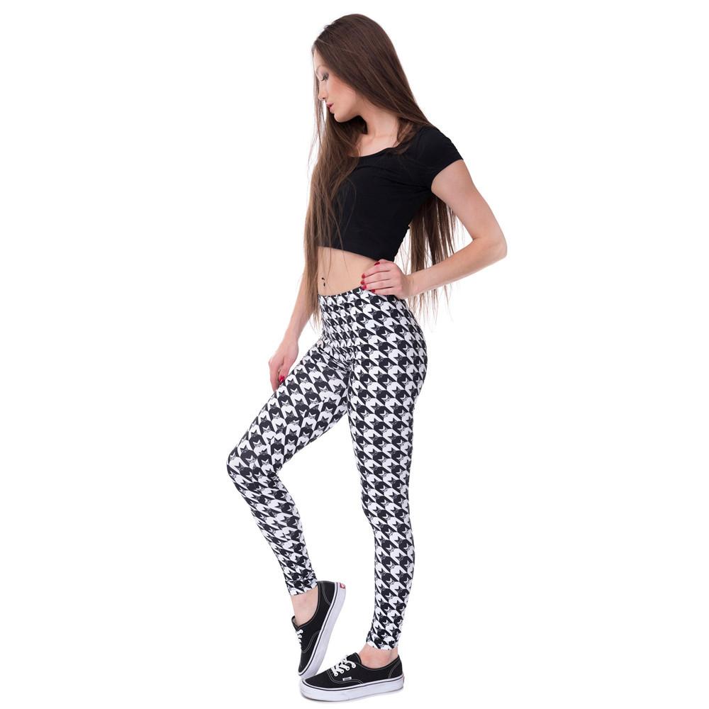 Zohra Brands Women Fashion Legging Aztec Round Ombre Printing leggins Slim High Waist Leggings Woman Pants 35