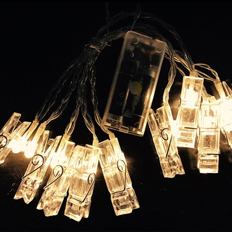 Photo Φωτισμός τοίχου Φώτα DIY Κάρτα Φώτα - Φωτισμός διακοπών - Φωτογραφία 2