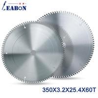 Leabon 원형 톱 블레이드 350x60tx3. 2x25.4/30mm 텅스텐 카바이드 팁 소재 톱 블레이드 절단 로즈 우드 mdf