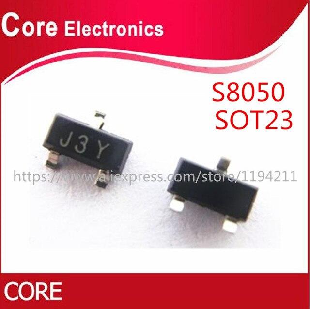 1000 個smd S8050 J3Y npn smdトランジスタsot 23