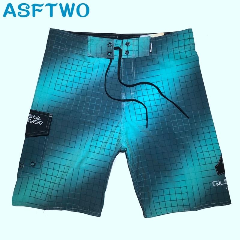 Mens Elastic Fabric Board Shorts Summer Beach Pants Home Bermuda Quick Dry Water Sports Shorts Surfing Gym Shorts 30 32 34 36 38