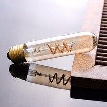 Grensk Lampadas E27 220V Lights Bulbs T30 130MM Spiral Edison Retro Vintage Filament LED Bulb Flexible Dimmable Ampoule Led Lamp