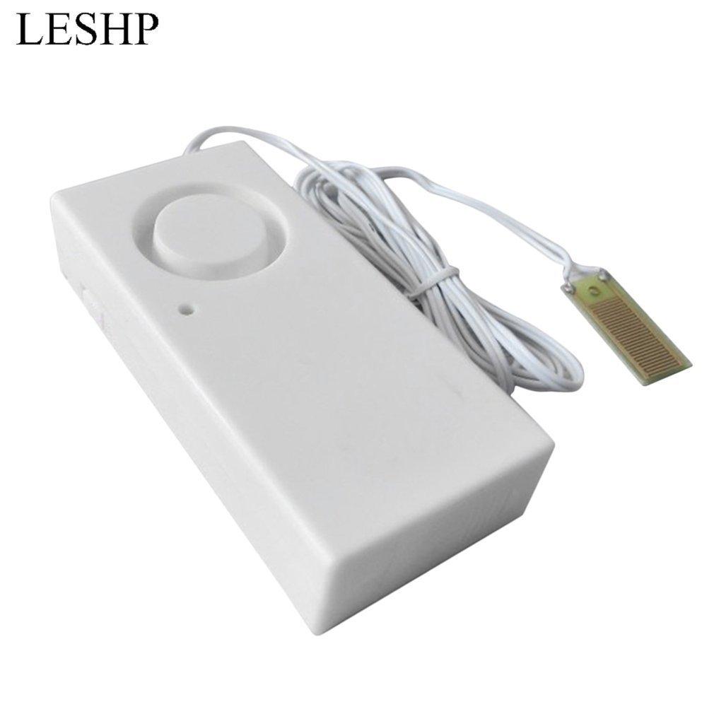 LESHP Water Leakage Alarm Detector 130dB Water Alarm Leak Sensor Detection Flood Alert Overflow Home Security Alarm System