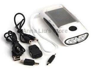 4 LED 1000 мАч Портативный солнечный фонарик с Зарядное устройство для телефона и fm Радио мини солнечный факел и 20 шт./лот DHL/EMS Бесплатная достав…