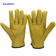 6PCS Men's Work Gloves Leather Security Protection Safety Cutting Working Repairman Garage Racing Gloves Motorbike For Men 4020Y