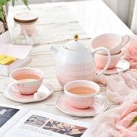 Ручная роспись день Чай комплект с Чай фильтр ручной рисунок чашка в британском стиле костюмы керамические бытовые Европейская чашка для к