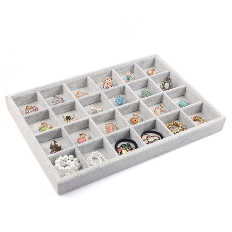 Free Shipping 24 Grids Ring Case Stud Earring Box Pin Earrings Display Shelf Jewelry Holder Accessories Showcase Storage A17 In Packaging
