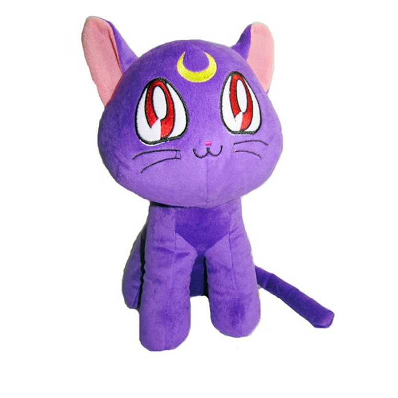Anime Sailor Moon Figuras Cat Luna Neko Plush Toy Stuffed Dolls Cartoon for Gift Baby Kids Friends 1230cm  (1)