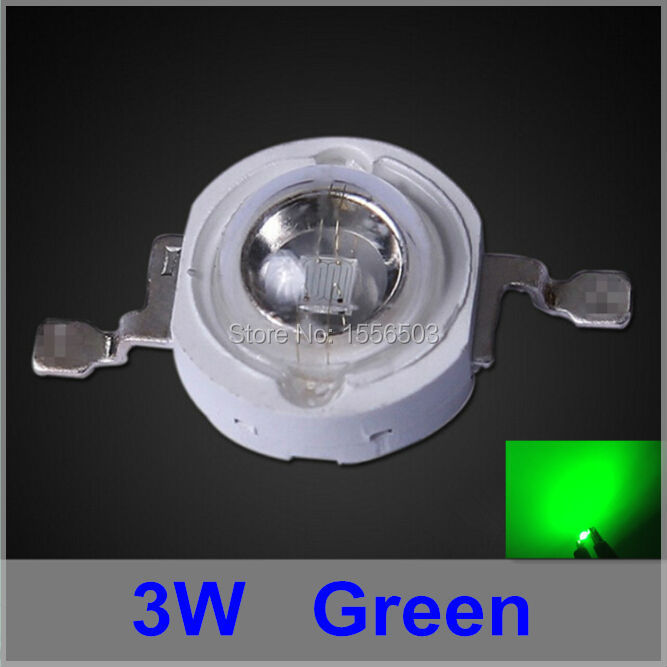 200 Pcs LED Chip 3W Green High Power LEDs Light Source LED Lamp Emitting Diode