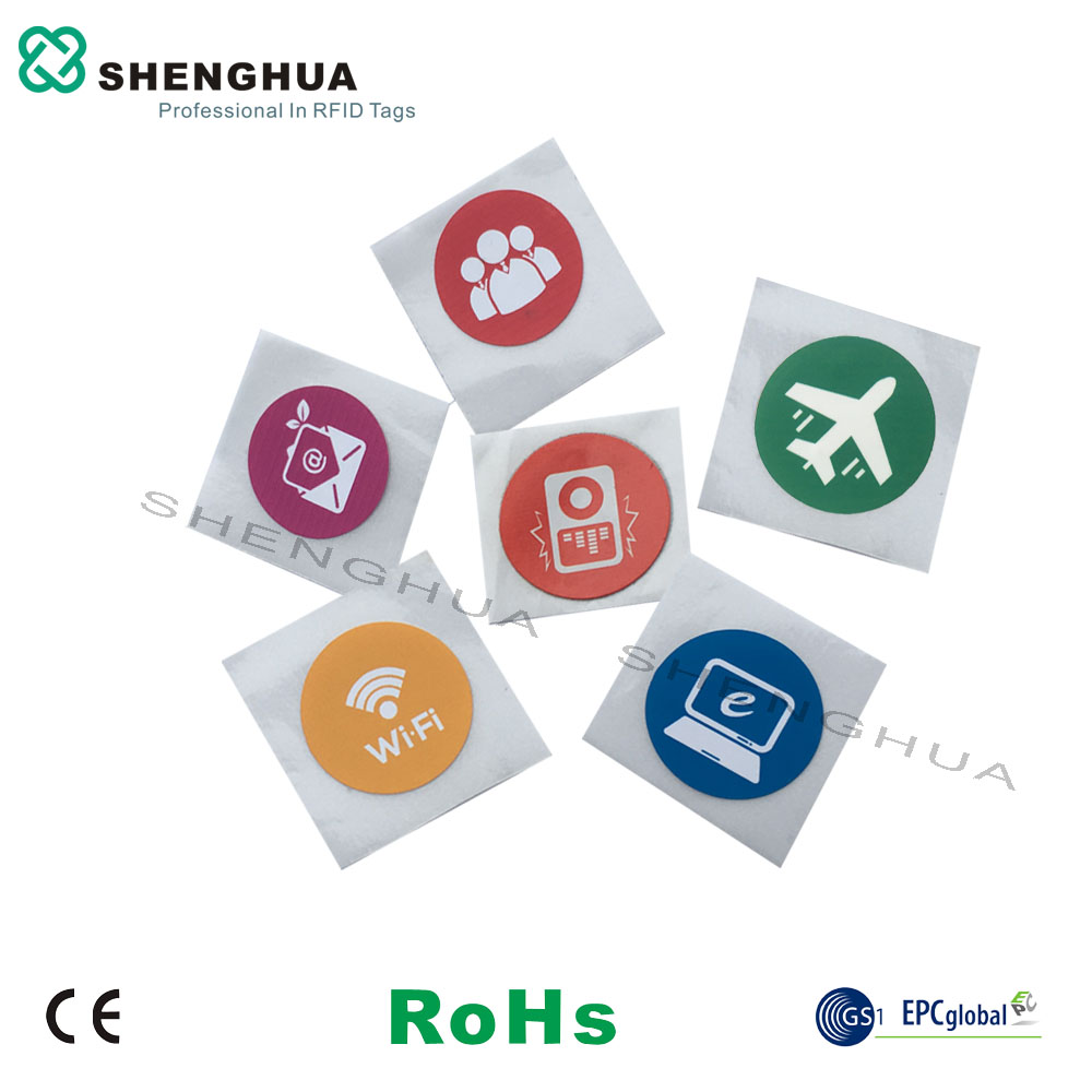 6pcs/ Lot New Contactless NFC Sticker N Tag213 13.56MHz HF RFID Label Technology Design NFC Tag Logo Printing