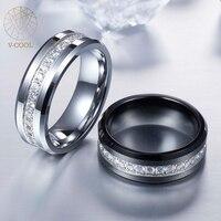 Srebrny Czarno Stali Wolframu Wedding Band dla Chłopaka Błyszczące Polerowane VR014 Alergików Człowiek Wolfram Pierścień Biżuteria