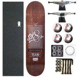 SK8ER Completed Skateboard 8.0/8.25 Skate board Wheels 52mm & Trucks 5.25 Pro Skateboarding Deck Accessories
