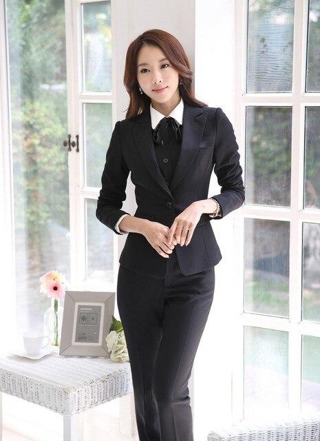 Custom made Formale Autunno e L inverno Delle Signore Tailleur Pantalone  Donna D affari 2eadc7b9269