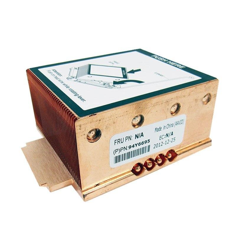 Refroidisseur de radiateur en cuivre 135 W pour système X3650 M4 94Y6695 96y6618 69y5270 94y6620 dissipateur de chaleur du serveur