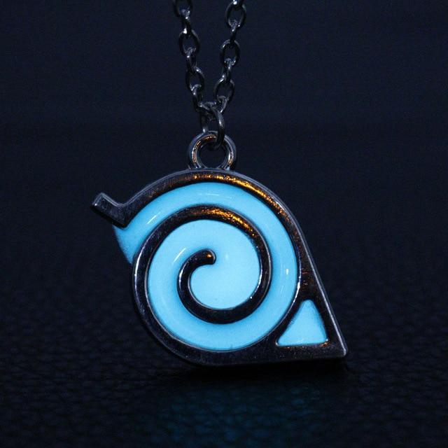 Naruto Luminous Glow in Dark Kakashi Leaf Village Symbol Cosplay Pendant