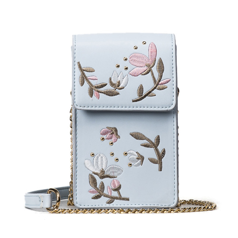 crossbody sacolas do homensageiro celular Tipo de Estampa : Floral