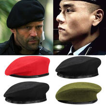 Fashion Military Soldier Army Hat Unisex Men Women Wool Beret Cap Men Hot Berets Male Hats(China)