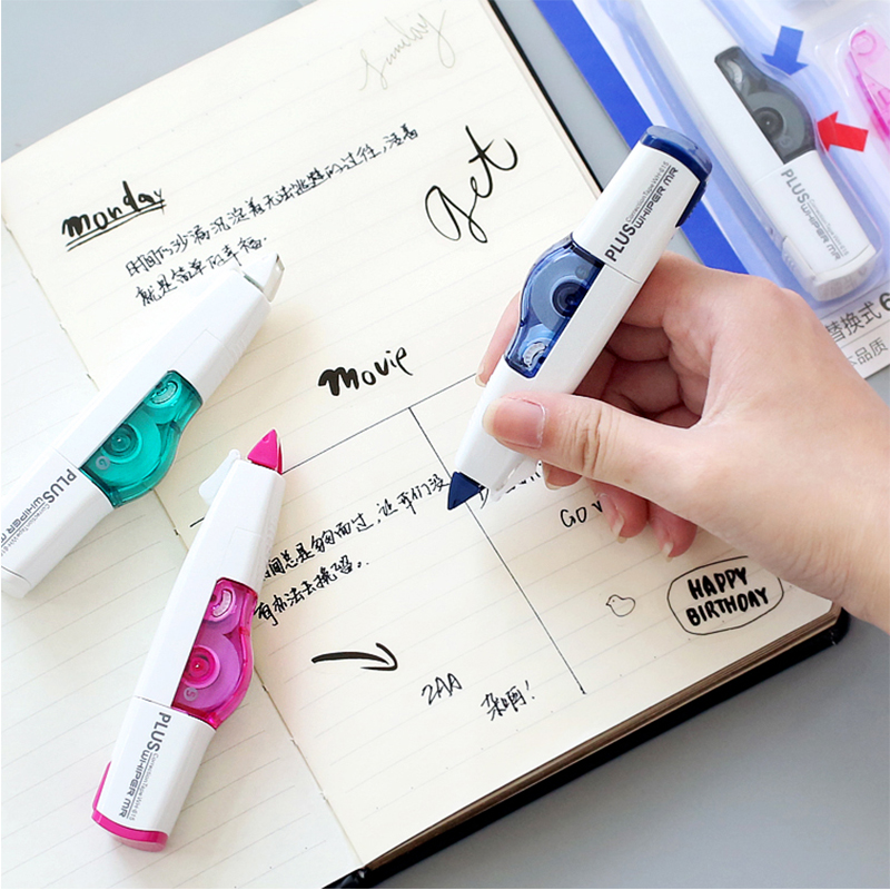 6M Replaceable Refills Correction Tape Japanese Correction Tool White Stickers Eraser Office Stationery Kawaii School Supplies