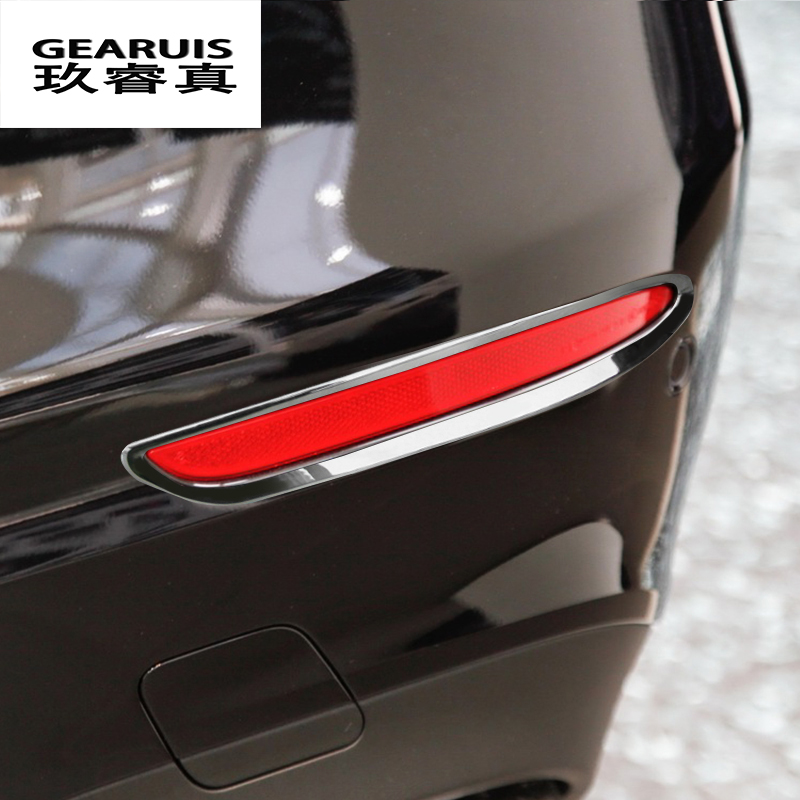 Car styling After Rear Tail Fog light Lamp Shade Frame Trim Foglight Bezel Covers protector For