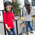 Newest Baby Girl Sweaters Solid Color Kid Cute Knitted Clothes Ruffle Hem Children Spring Autumn Princess Style Sweater