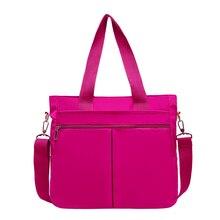 Contracted Joker Shoulder Bag Waterproof Nylon Large Capacity Leisure Or Travel Bag Candy Color Handbag Soft Package for Women все цены