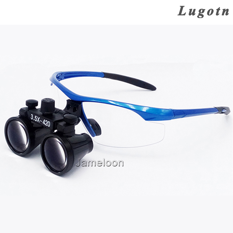 3.5X magnification surgical magnifier medical binocular dental loupes antifogging optical glasses doctor loupe professional 3 5x magnifier 280 380mm working distance dentist dental surgical medical headband binocular loupes optical glasses