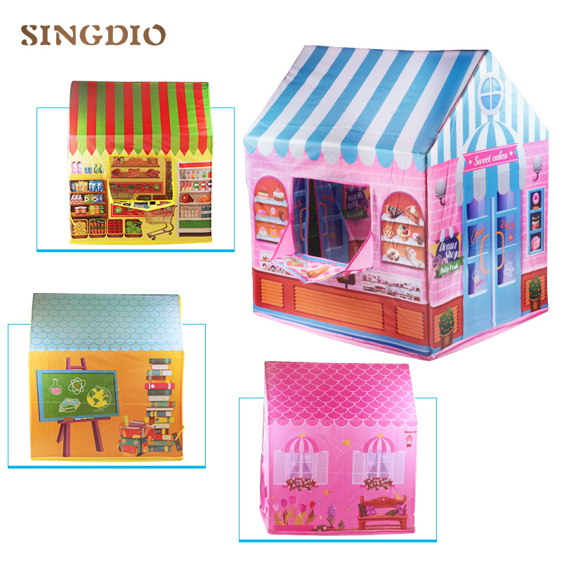 Children Tent Theaters Typees Baby Portable Folded Game In Game Indoor House Marquee Tipi Dream Fabric Tent For Kids
