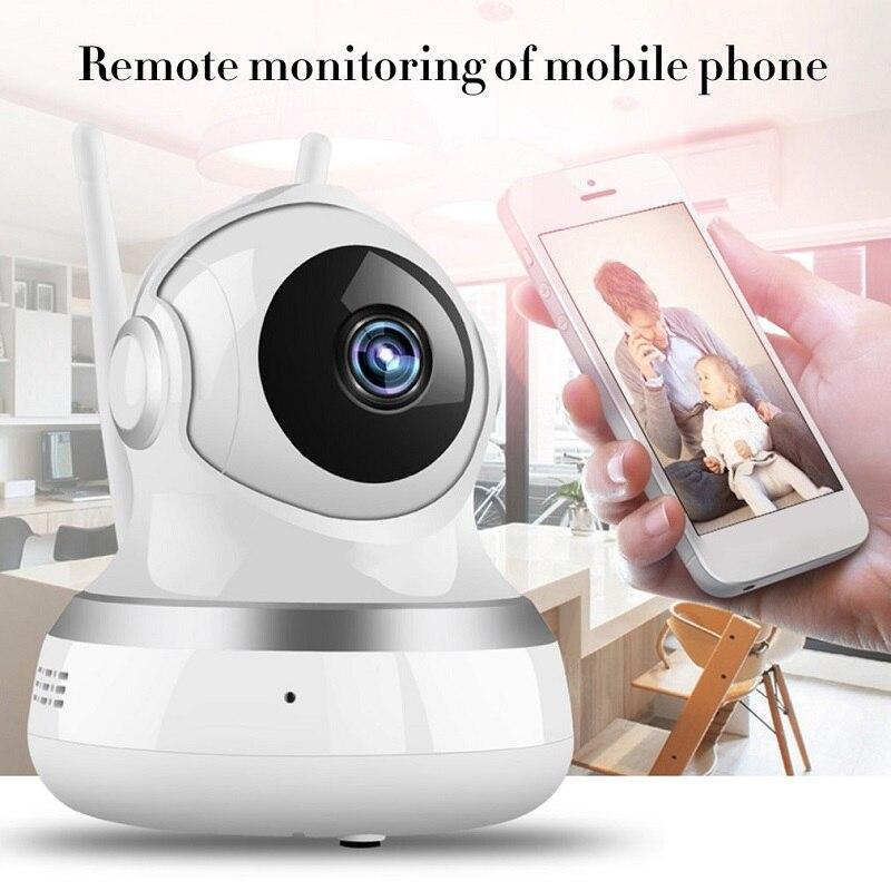 HD Smart WiFi Audio Camera 1080P Wireless Camera Video Real Time Alarm Dual-Aerials Remote Monitor Of Monile Phone US/EU Plug B4 hd 4 1 quad multi viewer quad screen real time multi viewer splitter seamless switcher 1080p 60hz ir control eu us plug black