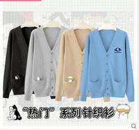 The Touhou Project/Danganronpa: Trigger Happy Havoc Monokuma Sweater Coat Cosplay Costume School Uniform Free Shipping S XL