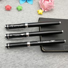 Unique Personalized gift pen for wedding reception great quality with silver clip and metal top custom free your logo